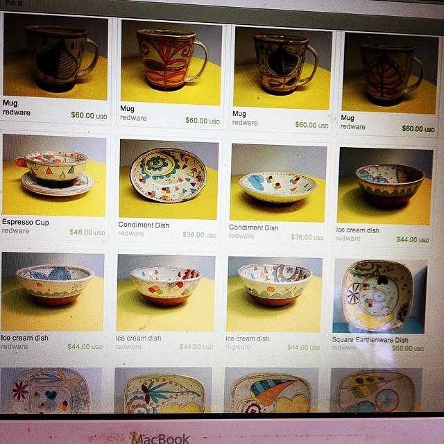Pots are up! kariradasch.com or etsy.com/shop/redware #radasch #mothersday #handmadepottery