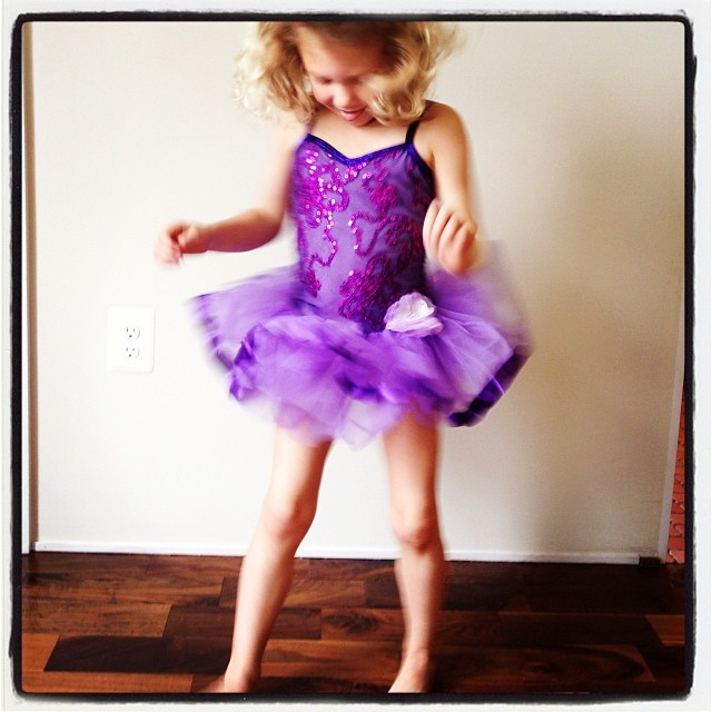 Ruby is not excited at all about her dance recital costume.
