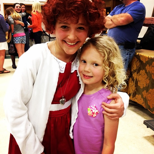 I'm not sure it gets any better than this for Miss Ruby. #Annie #itsahardknocklife #thanks nanandauntlynn